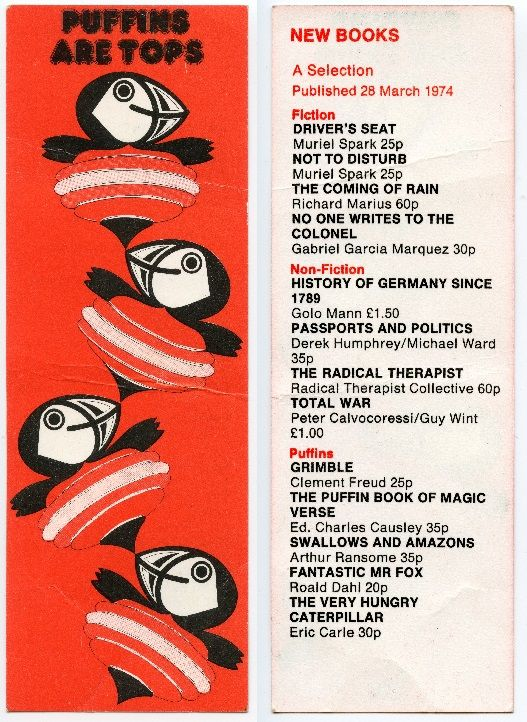 PUFFIN Books -March 1974 - Puffins are Tops