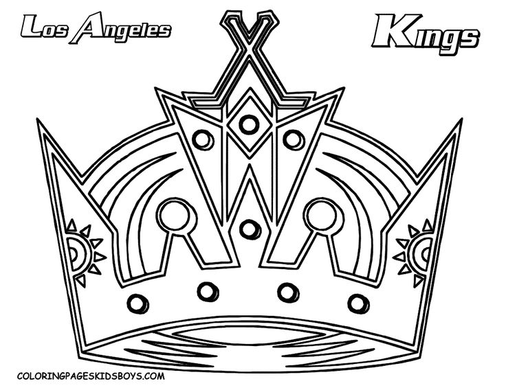 Nhl Team Logo Coloring Pages Coloring Pages Los Angeles Kings La Kings