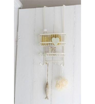 cream over door shower caddy shower style