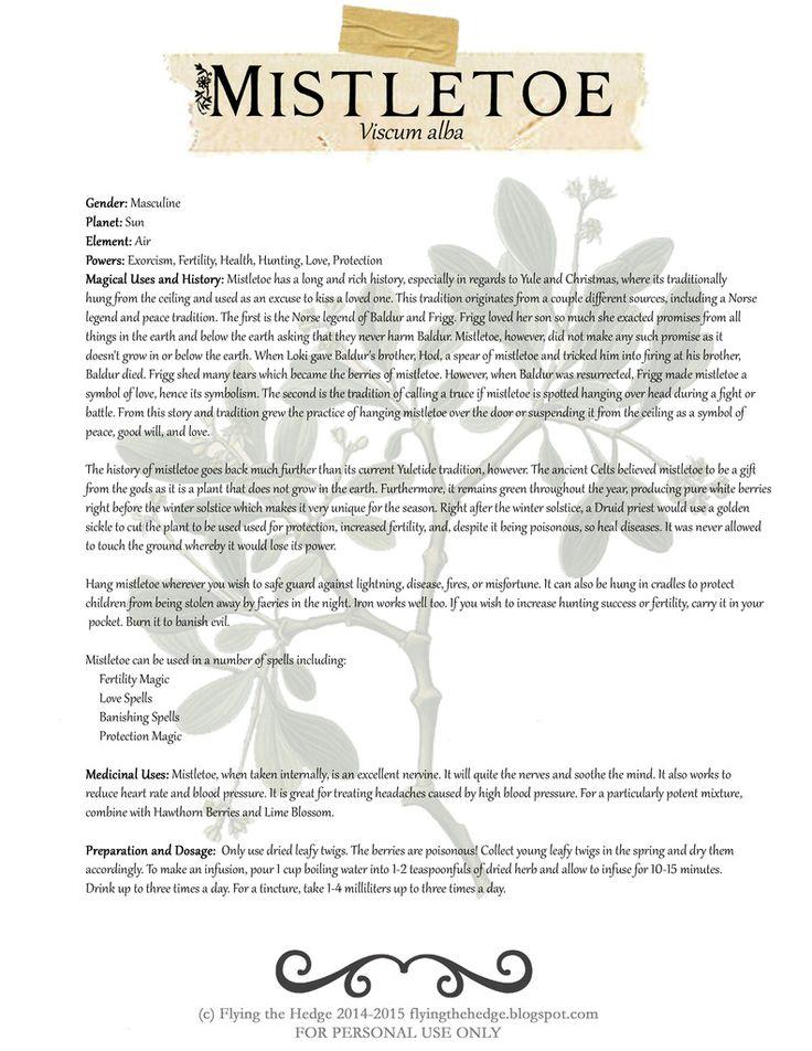 84 best herbalism images on pinterest herbalism herbal medicine magical and medicinal uses of mistletoe free bos page fandeluxe Images