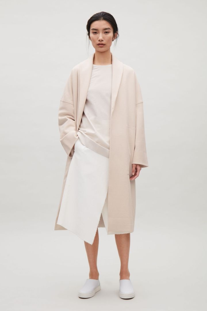 COS | Shawl collar jersey coat