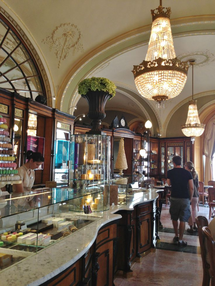 Gerbeaud Coffee House in Budapest. On the Pest side. Wonderful to have lunch and great coffee.