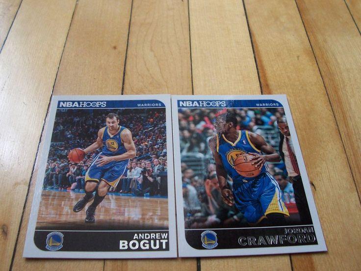 ANDREW BOGUT JORDAN CRAWFORD 2014-15 Hoops Golden State Warriors Base Card Lot