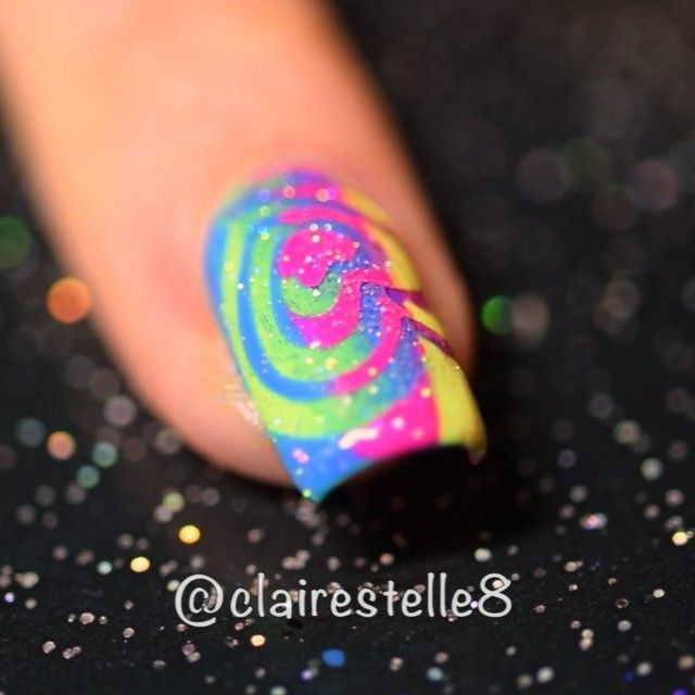 And here's the Video Tutorial   for my Rainbow Heart Swirls  And the Oscar for 'Best Peel Porn in a Supporting Role' goes to.....drum roll ......meeeeeeeee!  Well a girl can dream right?!  And I have my speech and ugly crying face all ready to go -  - good huh? Although maybe I should tone down the yellow in my foundation.... So I did consider just showing 15 seconds of pure latex/vinyl peely dirtiness  but IG slapped my hand  so you have a few other nail art steps in there too so it's not…