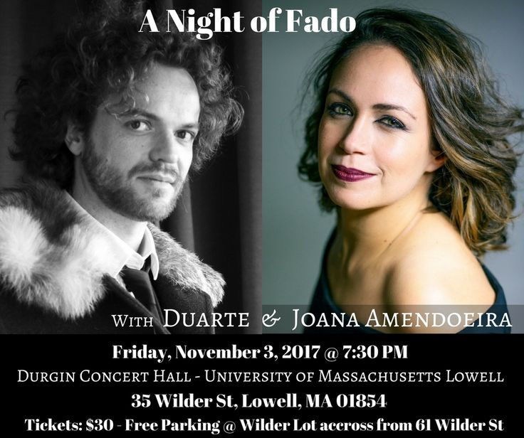 A night of fado music, the soul of Portugal, at Durgin Hall - University of Massachusetts, Lowell, MA