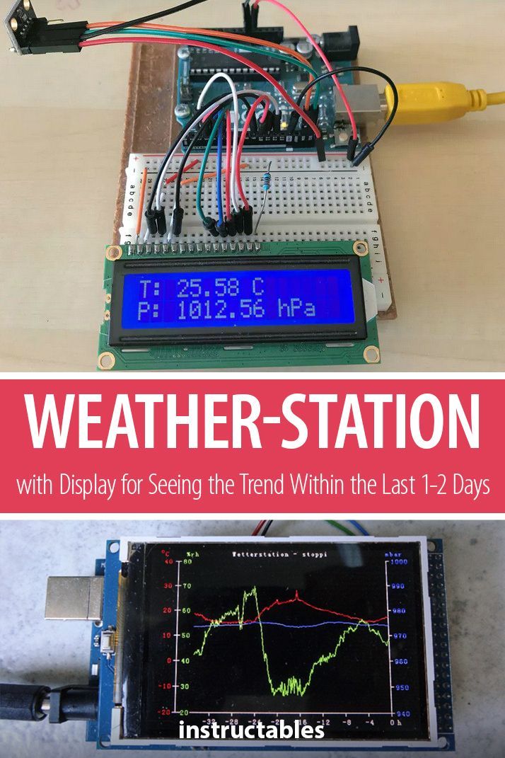 Weather-station With Arduino, BME280 & Display for Seeing the Trend