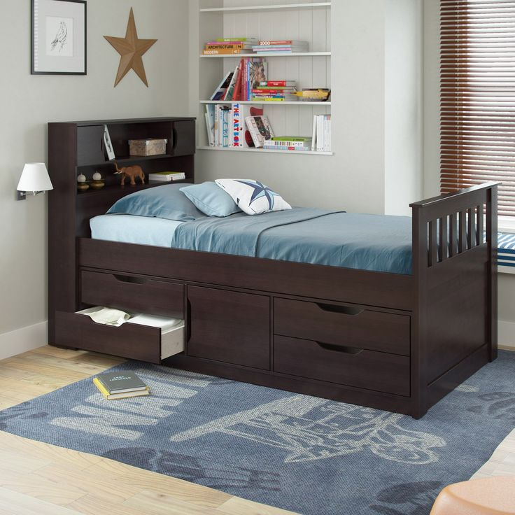 corliving madison twin captains bed from