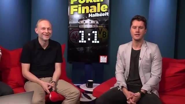 +++Eintracht Frankfurt - Borussia Dortmund - DFB-Pokal-Halbzeitshow mit Uwe Bein und Thomas Helmer+++