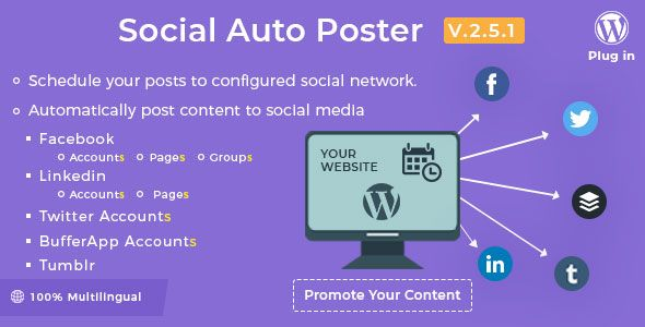 Social Auto Poster v2.5.1  WordPress Plugin