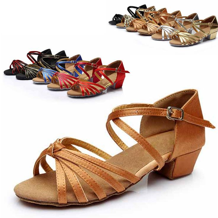 Professional Hot Sale Satin  Latin Dance Shoes Women Girls Salsa Ballroom Shoes Zapatos De Baile Latino Mujer WZSP