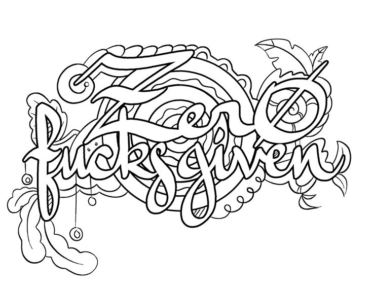 This is a graphic of Nifty dirty word coloring book