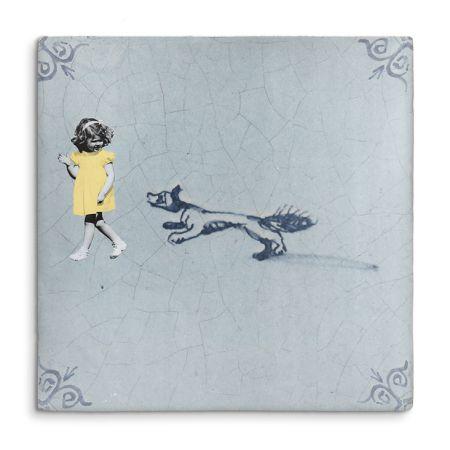 Story tile spelen met de eekhoorn - kunst   Storytile   DesignLemonade.com