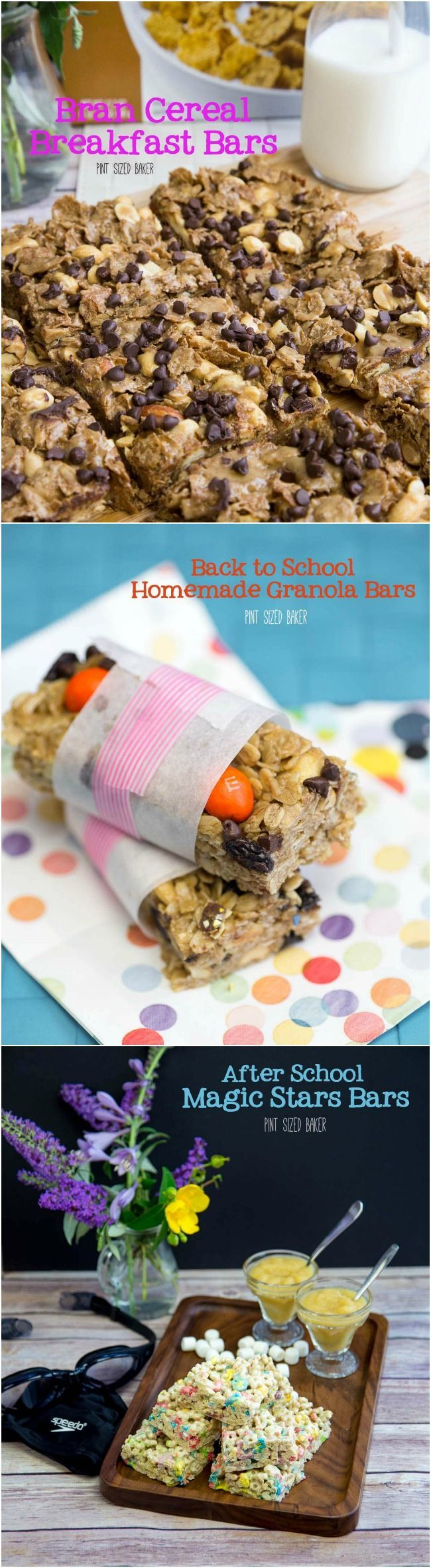 Make the kids some homemade cereal bars for breakfast, lunch, and after school! So fun and easy - he kids can help out!
