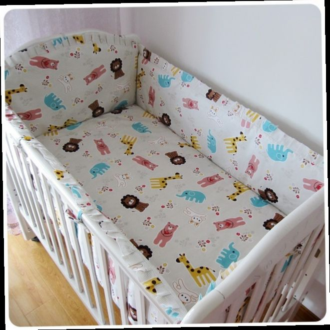42.80$  Buy here - http://aliddi.worldwells.pw/go.php?t=32381522933 - Promotion! 6pcs Baby Bedding Sets for your choice For Babies (bumpers+sheet+pillow cover)