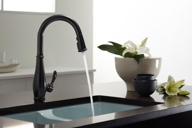 Black Kitchen Sinks, Countertops and Faucets, 25 Ideas Adding ...
