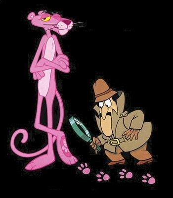 Loved the Pink Panther!  Hugely popular movies of the misadventures of Inspector Clouseau in the '70s ~ and it spawned a Saturday morning cartoon show of the Pink Panther