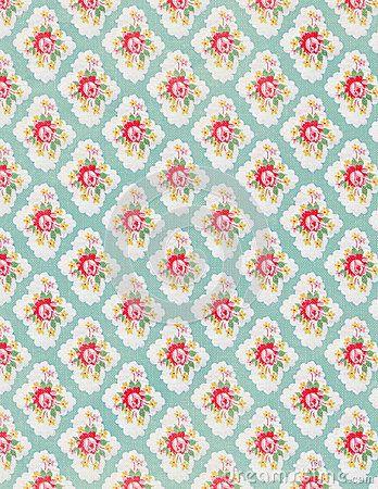 Vintage floral wallpaper rose repeat pattern by Jodielee, via Dreamstime