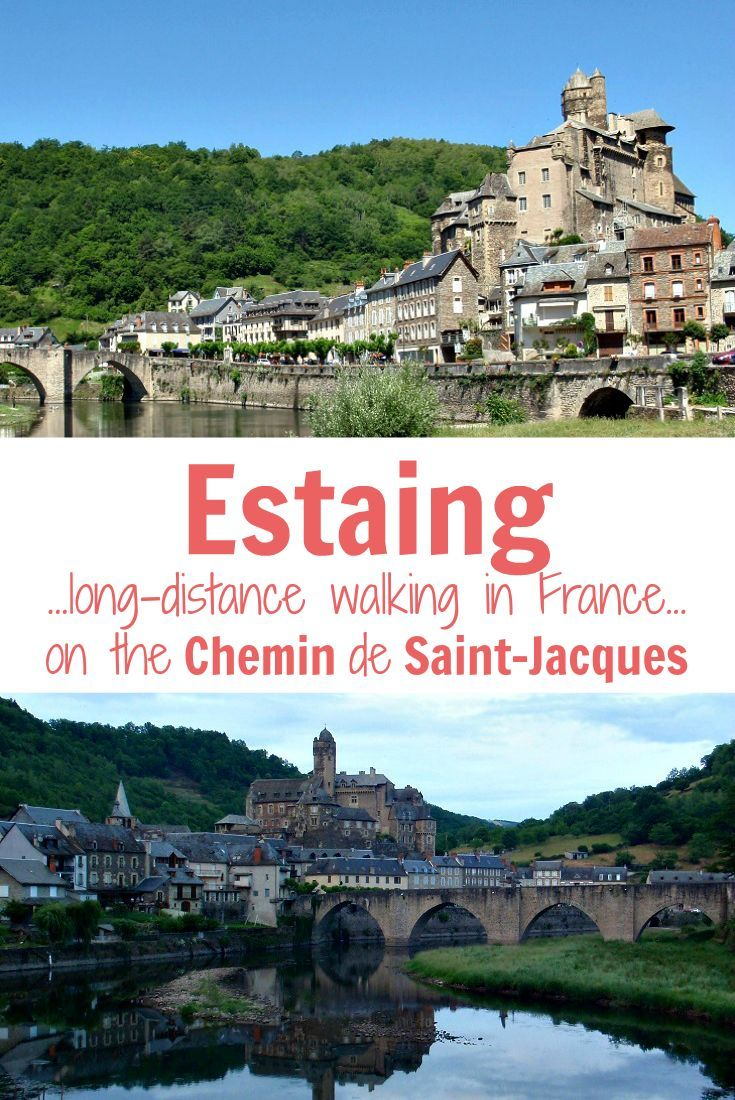 Explore the most beautiful village of Estaing while walking the Chemin de Saint-Jacques in France