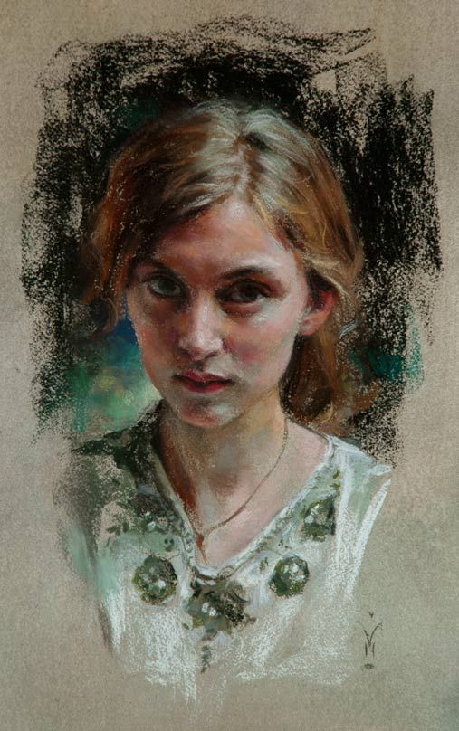 charlotte by Miles W Mathis - pastel