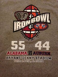 2014 Iron Bowl Score T Shirt 55 44 University of Alabama vs Auburn ...