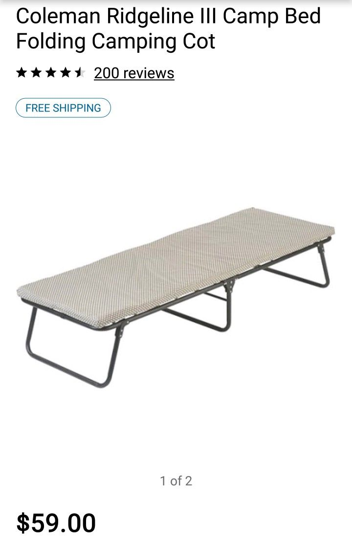 Sports Outdoors Camping Cot Cot Bed