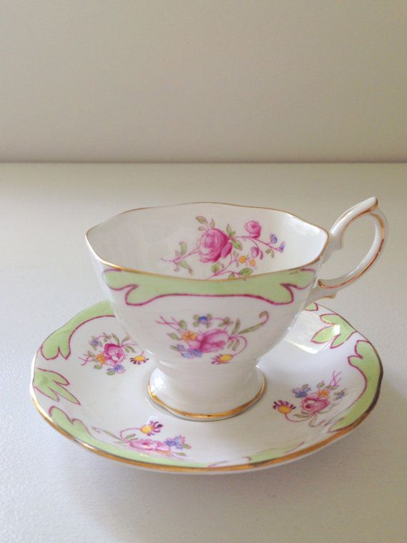 Vintage Royal Albert Tea Cup and Saucer Cottage by MariasFarmhouse, $45.00