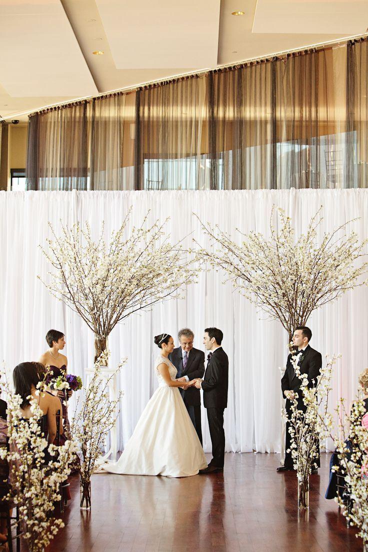 Modern Chic Boston Wedding | Diy wedding backdrop, Indoor ...