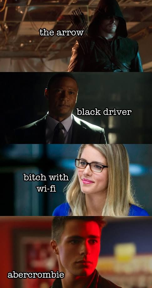 Arrow - Oliver, Felicity, Roy & Diggle: Team Arrow secret identity
