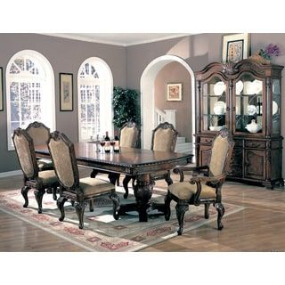 Shop For Coaster Company Saint Charles Double Pedestal Wood Dining Table Get Free Shipping At