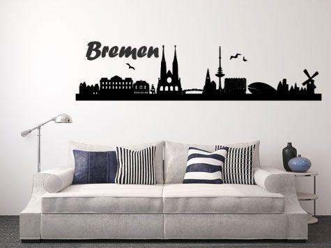 Trend Wandtattoo Skyline Bremen