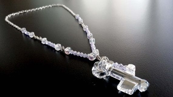 Bridal Key Crystal Swarovski AB Pendant with swarovski by BYTWINS, €95.00