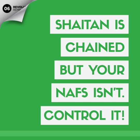 Control your nafs