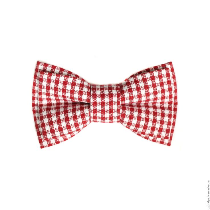 Купить Галстук бабочка в красно-белую клеточку / Бабочка галстук в клетку - галстук бабочка