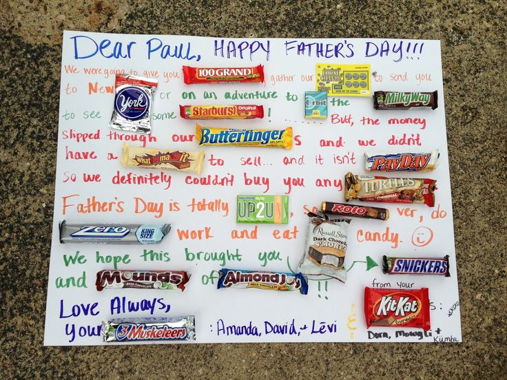 father's day cards made with chocolate bars