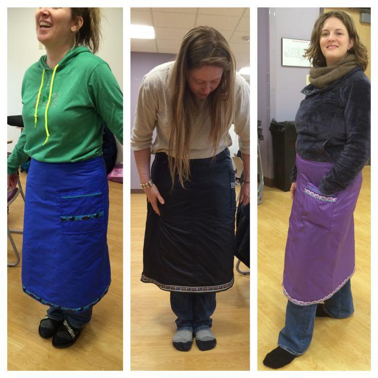 Three more snow skirts. Three more warmer women!