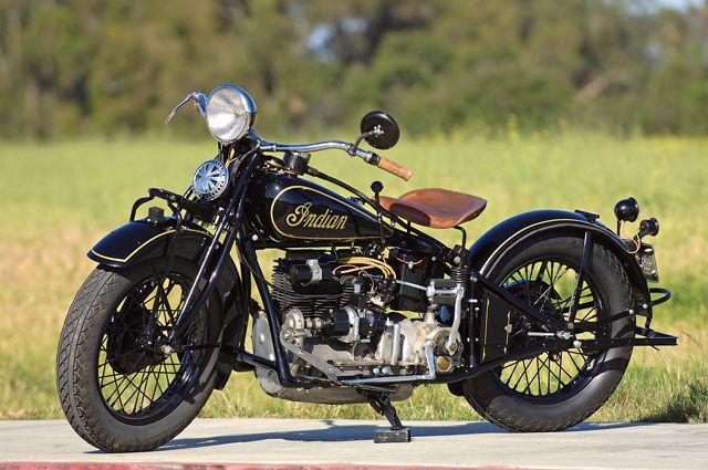 1933 Indian Cuatro - Motocicletas clásicas americanas.
