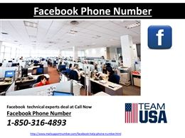 "For optimum Facebook security-How to contact Facebook Phone Number @1-850-316-4893 experts?""If, you forgot Facebook password or hacked by someone else and looking for how to Recover Facebook password, Facebook change password, then call at Facebook Phone Number @1-850-316-4893 for Facebook password reset.  • Securely configure your Facebook account with Google app • Restore back your Facebook account • Strengthen your Facebook password Please visit…"