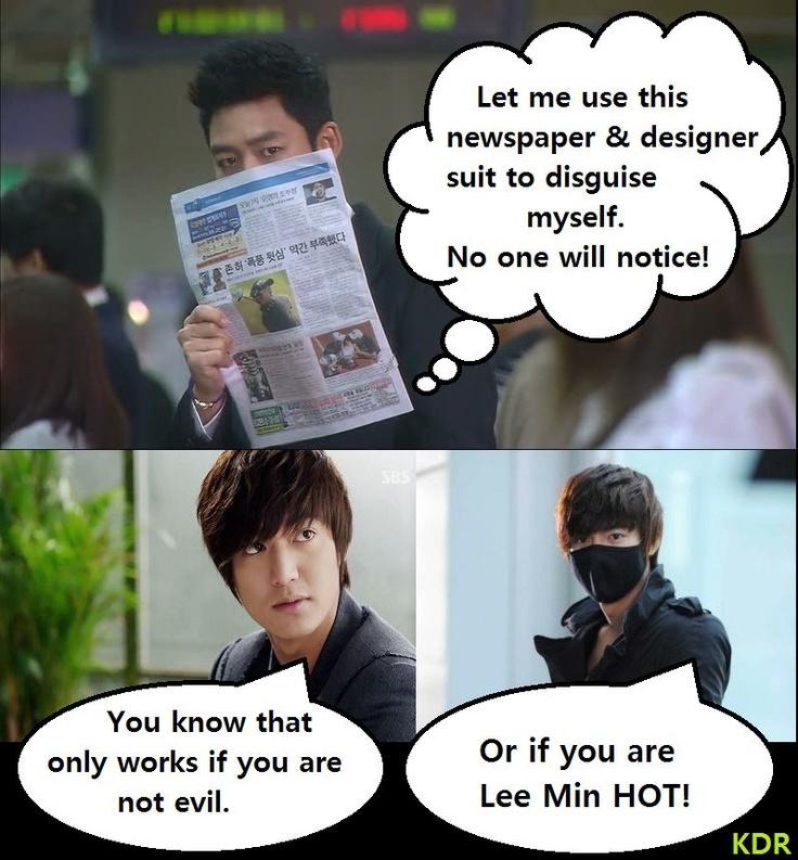 Lee Min Ho City Hunter- so true!!!!!!!!! he should change his name- Lee Min HOT!!