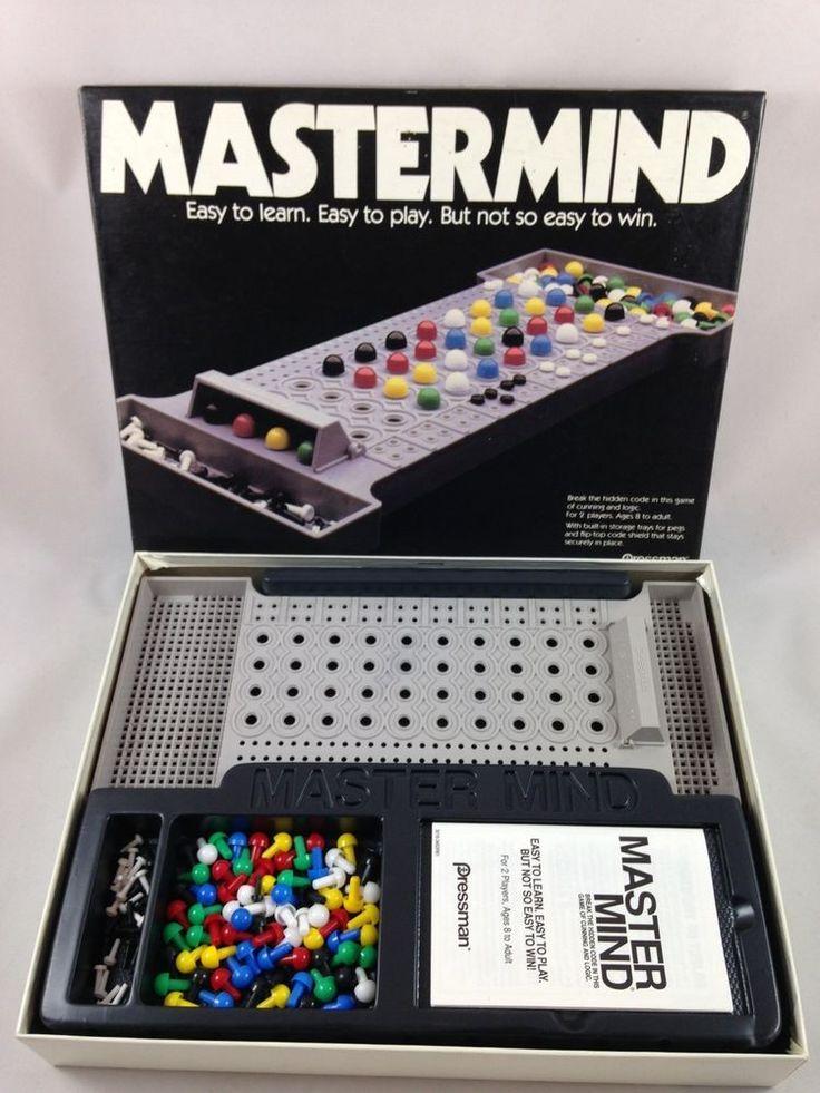 Mastermind Game Vintage Strategy Game Pressman 3016 1981