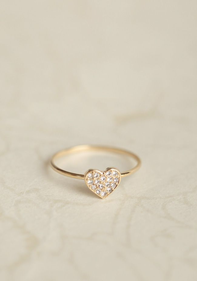 Valentine heart ring