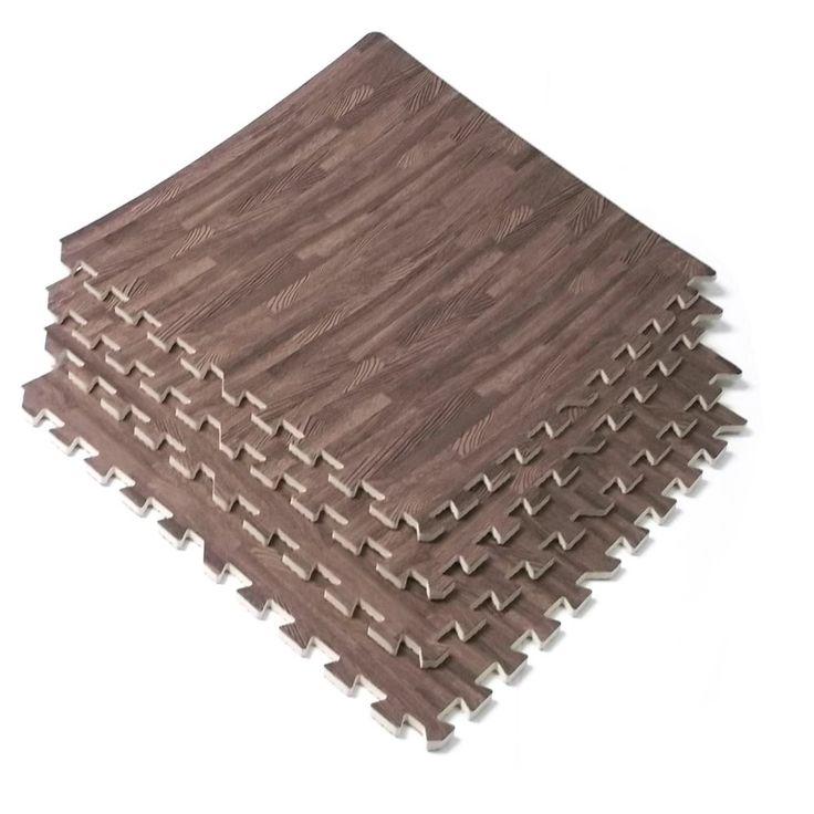 Amazon.com : 96 Sq Ft Dark Wood Grain Eva Mats Foam