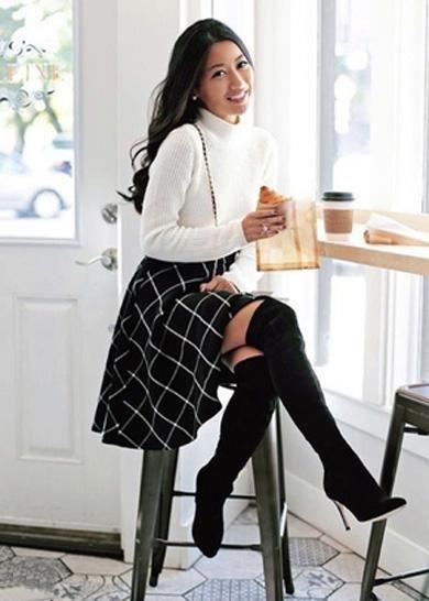 SIENNA plaid skirt