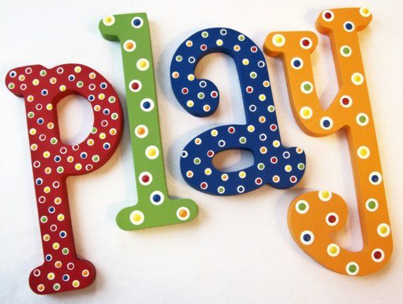 Adorable Handpainted Letters by my friend Becky Bowen from Posh Dots on Etsy! LOTS of styles to choose from!... Super detailed, beautifully crafted!   :)