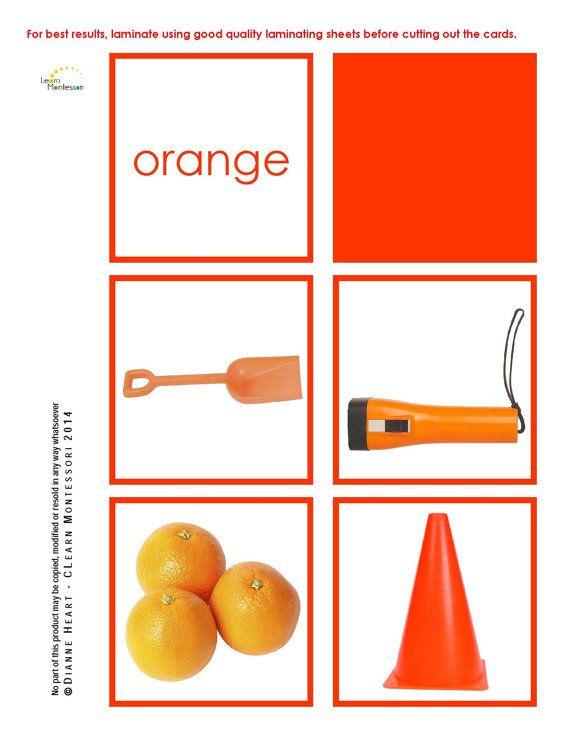 Montessori Curriculum  Language: Colors by LearnMontessori on Etsy