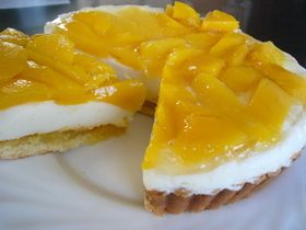 ☆とろけるマンゴー&ヨーグルトタルト☆ Mango Yogurt Tart
