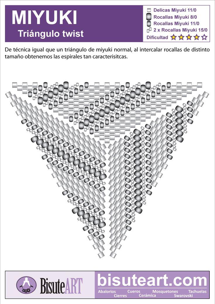 132 best Peyote Dreiecke images on Pinterest   Peyote triangle, Bead ...