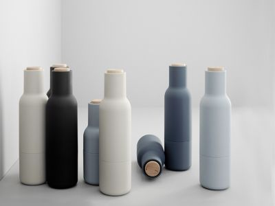 MENU Bottle Grinders have a rounded base that fits perfectly into the hands, and have a rubber surface that's easy to grip and to clean. They come in a range of beautiful, soft Scandinavian colours. Bon appétit. http://www.wgu.com.au/product/bottle-grinder/