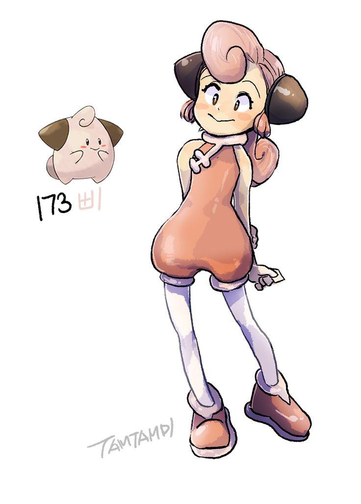 Pokemon gijinka 173. Cleffa> ver Clefairy y Clefable gijinkas