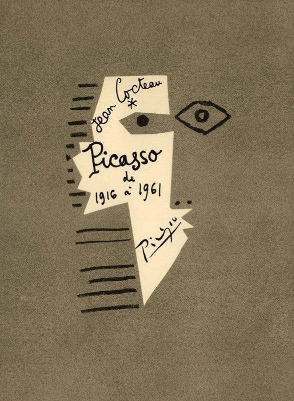 Picasso de 1916-1961. Cover. Artist: Pablo Picasso, Jean Cocteau. Author: Jean Cocteau. Publisher: Éditions du Rocher, Monaco, 1962. Size: 38.5×29 cm