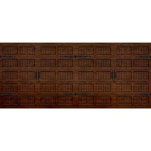 Martin Garage Doors, Wood Collection Silverlake 16 ft. x 7 ft. Grooved panel Walnut Woodgrain Steel Back Insulation Garage Door, HDIY-000987...